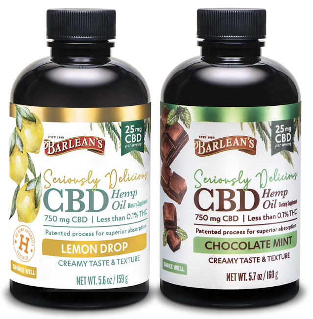 CBD Emulsion Bottles Side-by-Side