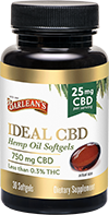 Ideal CBD 25mg 30ct FG-10194 LA-00040-00 bottle 72-small