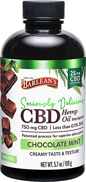 Seriously Delicious CBD 5.7oz Chocolate Mint FG-10195 LA-00045-00 bottle 300dpi copy