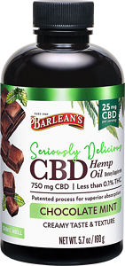 Seriously Delicious CBD 5.7oz Chocolate Mint FG-10195 LA-00045-00 bottle+chocolate Layered