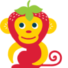 Seriously Delicious Strawberry Banana Monkey for kids' flax oil supplements