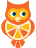 Seriously Delicious® Tangerine Owl for kids' fish oil supplements