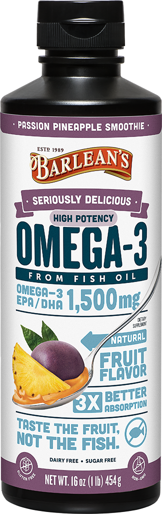 Seriously Delicious™ Omega-3 High Potency Fish Oil Passion Pineapple Smoothie